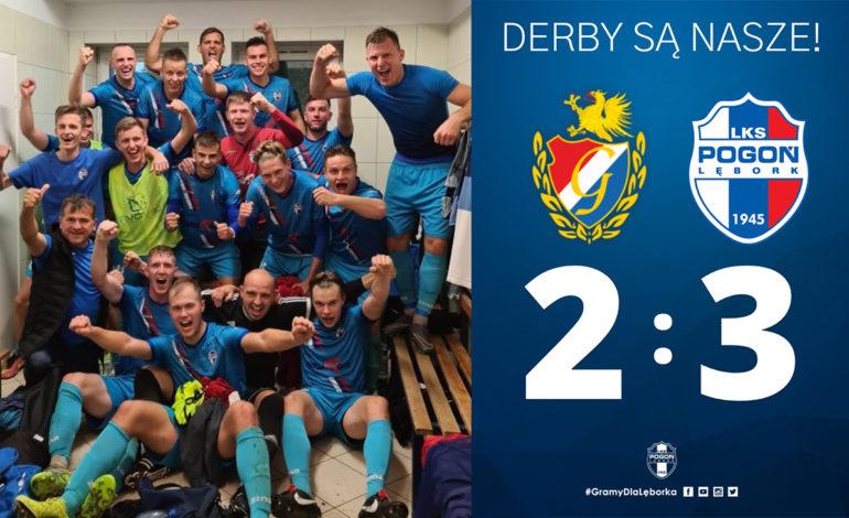 Derby dla Pogoni Lębork. Historyczne zwycięstwo w Słupsku